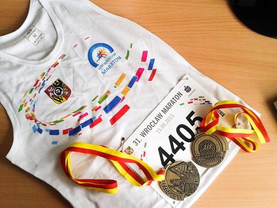 Wrocław - maraton - medale