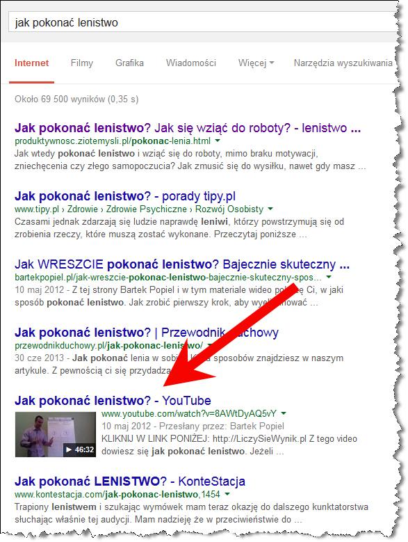Jak Pokonać Lenistwo Google YouTube