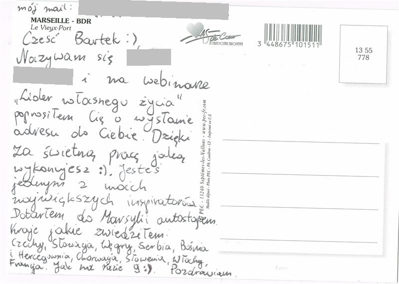 Kartka - Marsylia 2