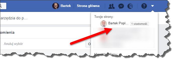 facebook - wybór fanpage