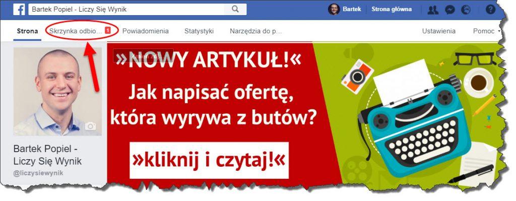 facebook - fanpage skrzynka odbiorcza