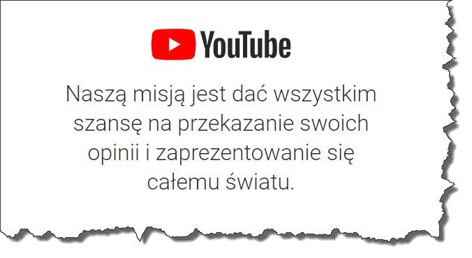 Misja youtube