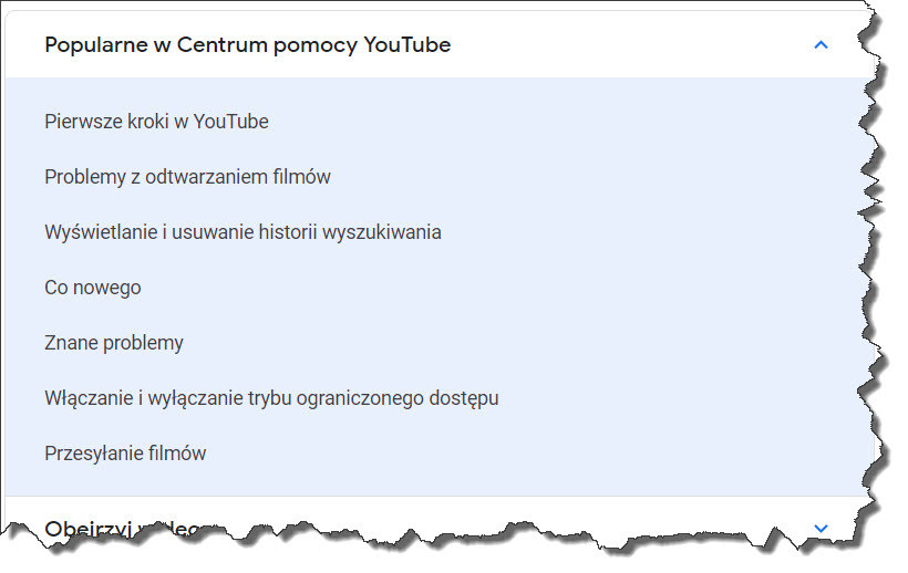 Centrum pomocy Youtube